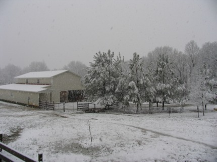 Tim and Karen Leard Farm Snowfall